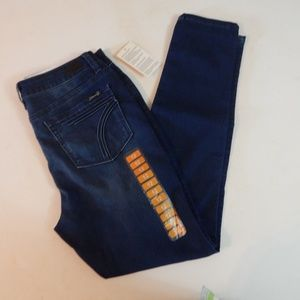 Seven7 Size 12 High Rise Skinny Blue Jeans NWOT